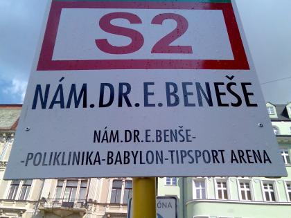 Jedna autobusová zastávka